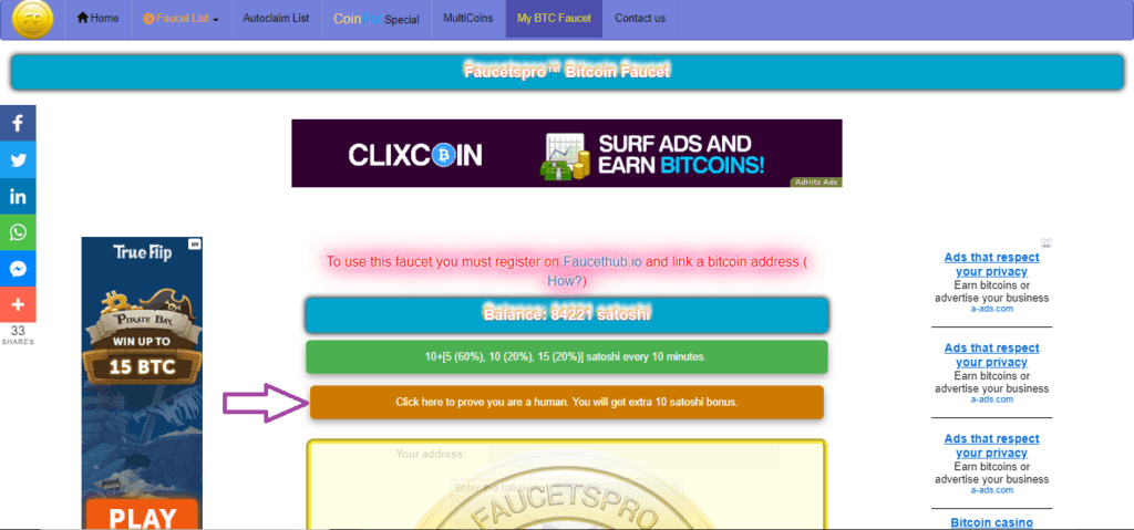 Bitcoin Faucet list | Faucetspro - A Trusted Website